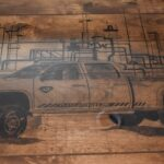 Wood Burned Conf Table